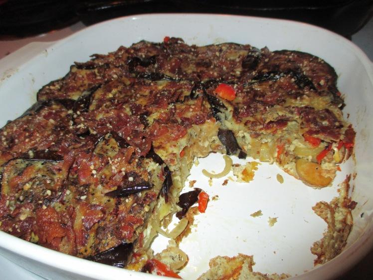 Eggplant Chipotle Frittata