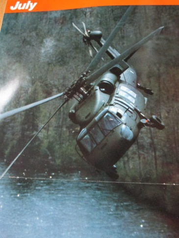 Black Hawk UH-60A (credit United Technologies Sikorsky Aircraft '84 Calendar)