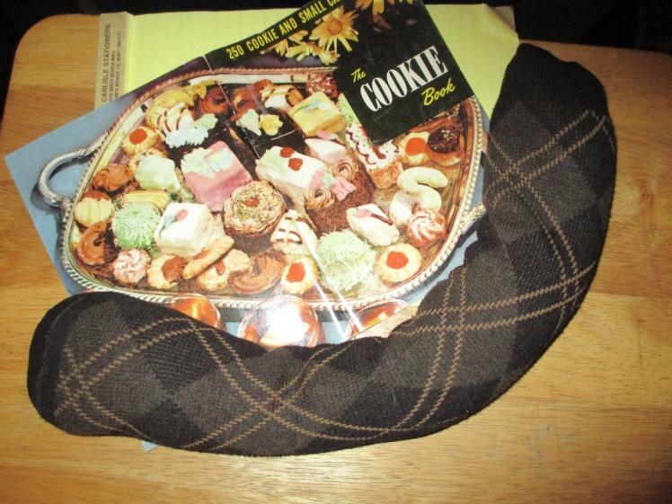 Basmati Rice-filled Hot Sock, Smiling for Cookies