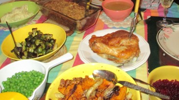 Thanksgiving Dinner for two, leftovers planned